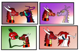Coloured Thorn kisses part 3 by Thornacious