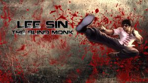 LoL - DragonFist Lee sin BloodWallpaper ~xRazerxD by xRazerxD