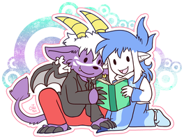 Sharing a Book by raizy