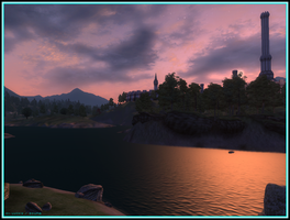 Sunset over Imperial City by Scuria
