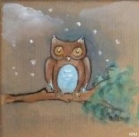 Gift Box Owl by Neon-Tiger-7