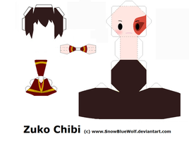 Zuko Papercraft Template by SnowBlueWolf