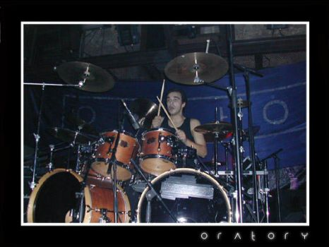 Playing Drums At Hard Club by oratory