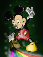 paint brush Mickey by Qaizor