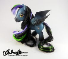 Cut Throat OC My Little Pony custom by thatg33kgirl