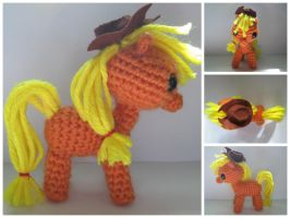 Crochet Applejack by TheBronyfluff