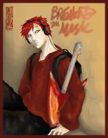 Breaking the Music: Gaara by flightangel