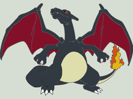 Shiny Charizard by Artrookie--yup