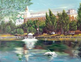 Swan's Lake. Astrakhan by chebot