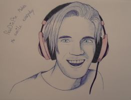 PewDiePie pen portrait by ponyhallo1