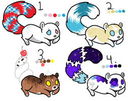 Squirrel Adoptables .:OPEN:. PRICE REDUCED by Jinx-Adopts