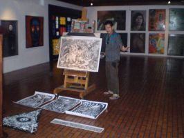 Me with my works by gromyko