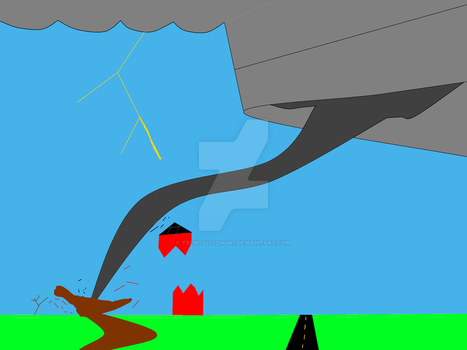 Tornado Destroying The Barn by trentsll1234567