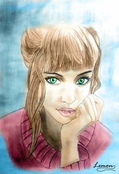 Girl-Digital Colouring by Lim0na