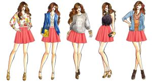 Skater Skirt Illustrations by LouSasa