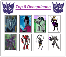 Top 8 Decepticons by Dragonprince18
