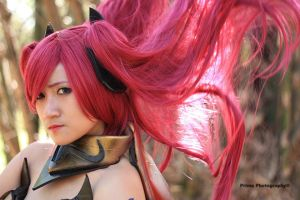 Erza Scarlet on Fire! by GenessiMeow