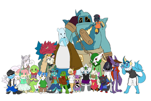 Pokemon Skype group: Colour by Yufika