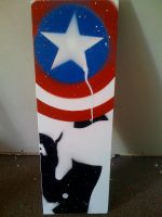 captain america banksy by waitedesigns