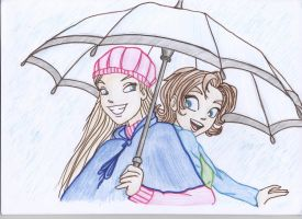 Cornelia and Irma Umbrella by Hattiart