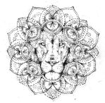 Lion mandala, tattoo design free by Agresivoo