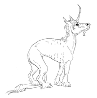 Whippet style unicorn by Peccantis