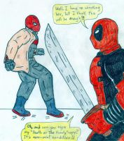 Deadpool vs Red Hood by Jose-Ramiro