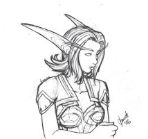 Night-Elf Miralda sketch by Thally