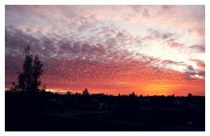 Sunset over the suburbia by Skycode