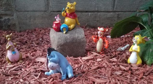 Winnie The Pooh and  Friends Garden Figures 1 by kibbecat