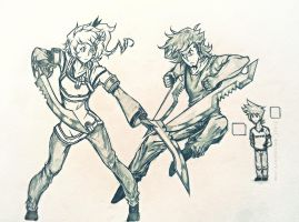 Blades VS Blades by 3ikal