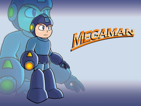 BAM it's Megaman by MasterWraith