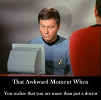 Doctor McCoy's Awkward Moment by ImaDoctor96