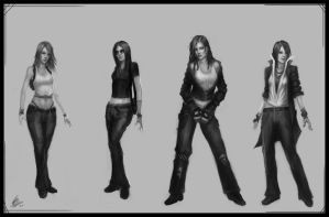 Female Character Designs v2 by Peter-Ortiz