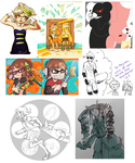 Splatoon/Dangan Ronpa dump by Lubrian