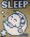 Kirby Sleep Pixel Painting by RubiksPhoenix