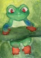 Kevin the Tree Frog by Starrydance