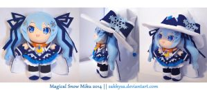 Magical Snow Miku 2014 Plush by sakkysa