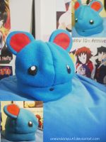 Aqua Mouse: Marill Hat by oneandonlyLLAT