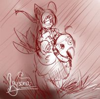 Another laysona sketchu by Fierying