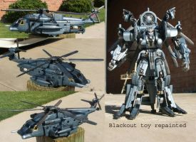 Blackout toy repainted by Unicron9