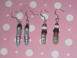 Doctor Who Sonic Screwdriver Eearrings by ichigoluv