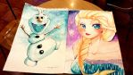 commission: olaf and elsa by CamiIIe