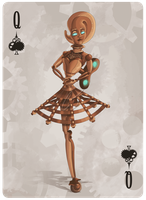 Automaton: Queen of Spades by PunchCawa