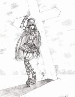 Gothic Girl drawing... by Xenogia