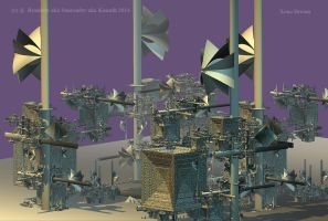 XENO DREAM WIND POWERSTATION by renderix
