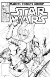 STAR WARS Mock Marvel Cover Pen and Ink by Hodges-Art