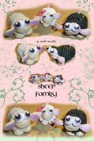 Sheep Family.. by gothic-ballerina
