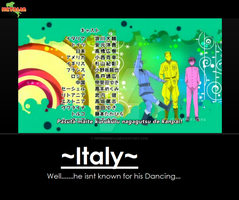 Hetalia: Beautiful World- Italy's dancing by peppermix14