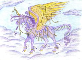 Goddess of the Violet Clouds by Almalphia